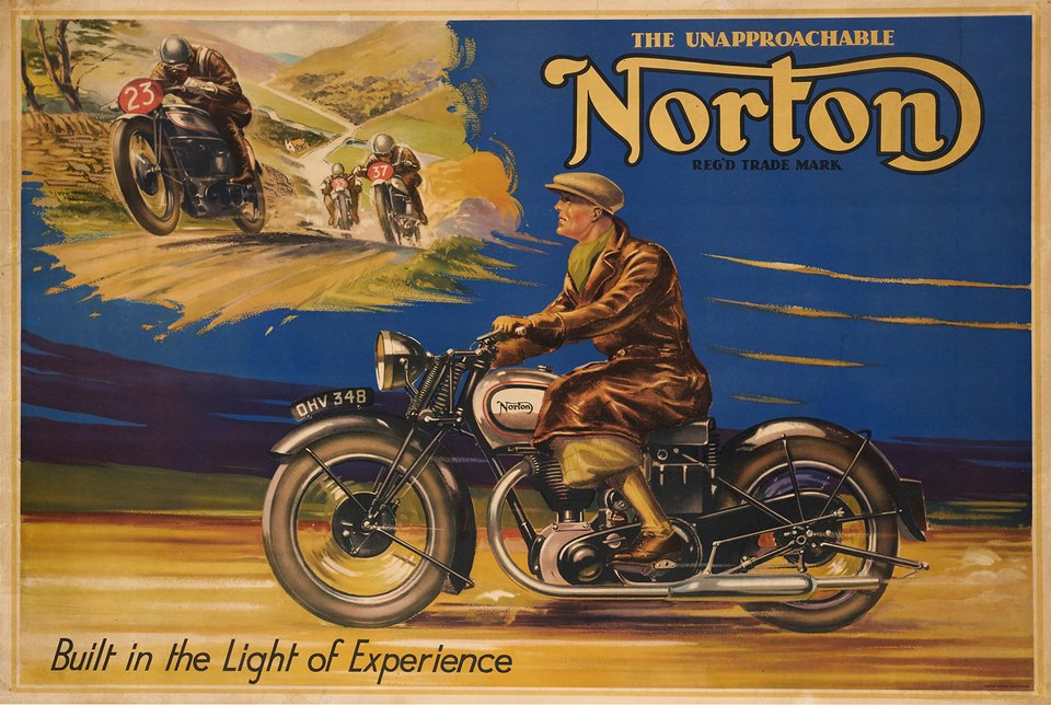 Norton, Buildt in the Light Experience – Vintage poster –  ANONYME – 1950