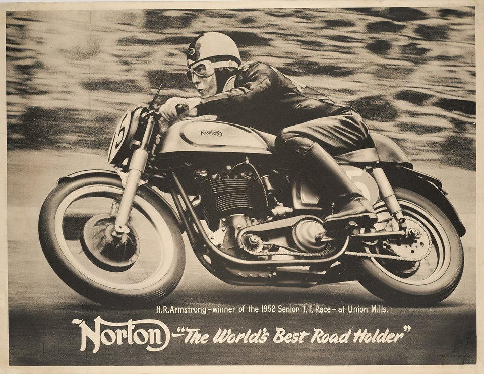 "Norton - ""The World's Best Road Holder"" – Vintage poster – Salmond – 1950"