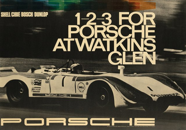 Porsche, 1-2-3 for Porsche at Watkins, Glen