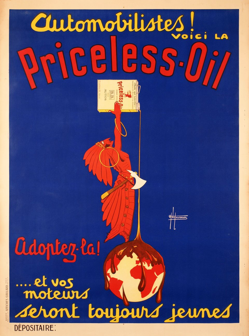 Priceless-Oil – Vintage poster – H DE LAURENCIN – 1920