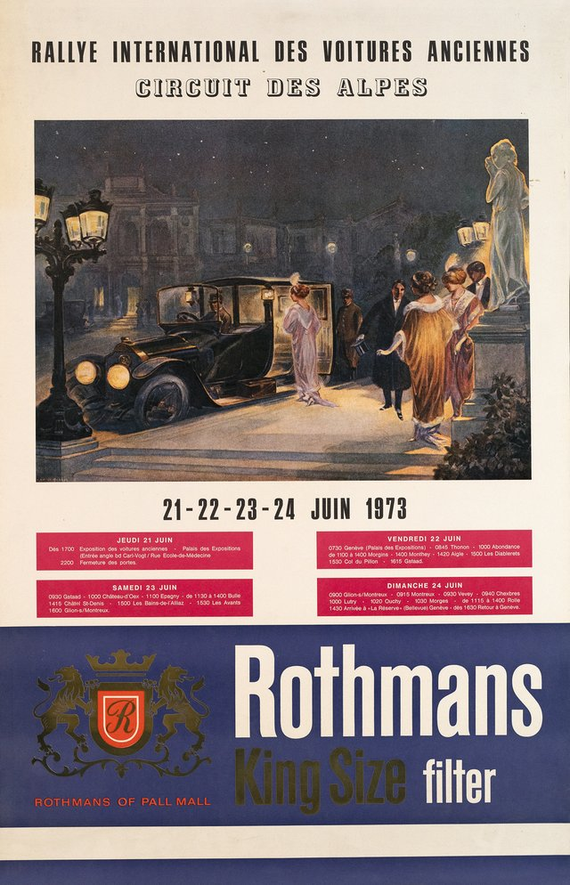 Rallye International des Voitures Anciennes, Circuit des Alpes, Rothmans King Size filter, Pall Mall