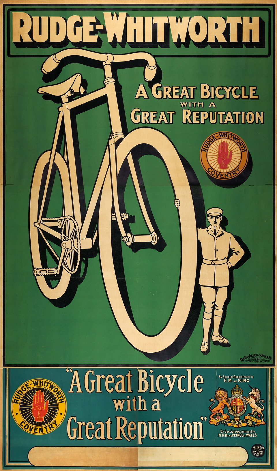 Rudge-Whitworth – Vintage poster – ANONYMOUS – 1900