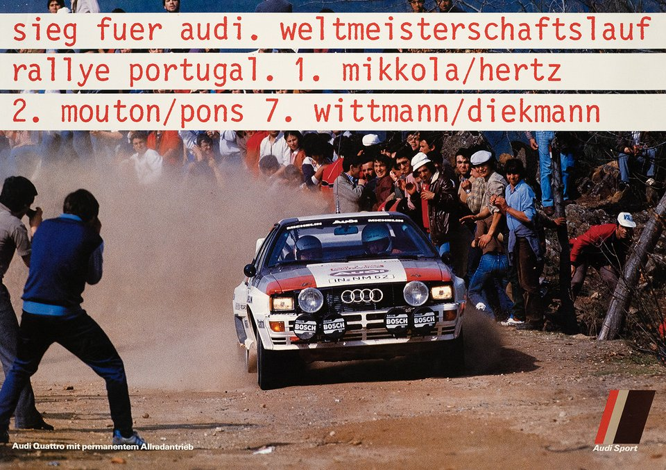 Sieg Fuer Audi – Vintage poster – ANONYME – 1990