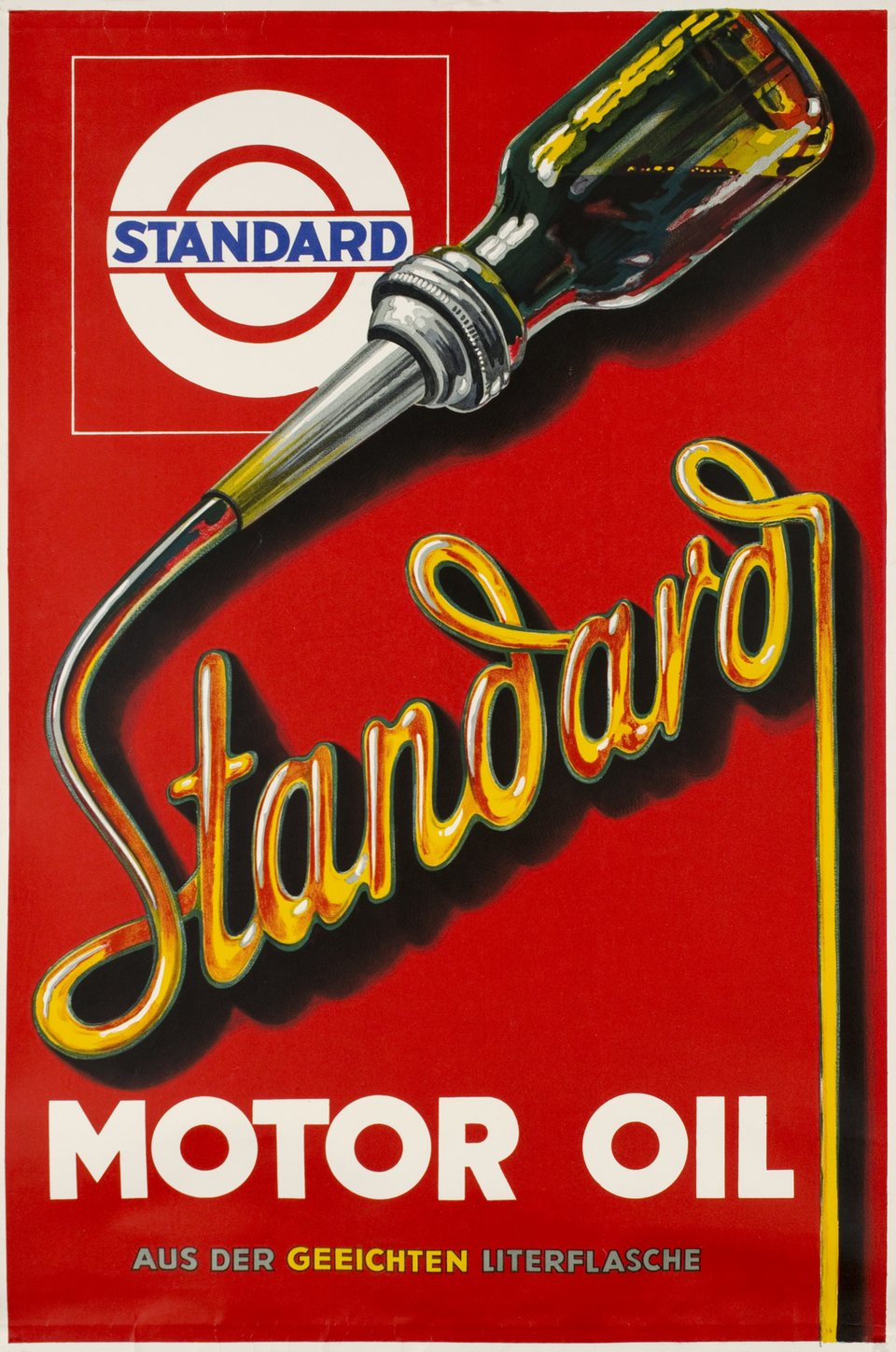 Standard Motor Oil – Affiche ancienne – ANONYMOUS – 1930
