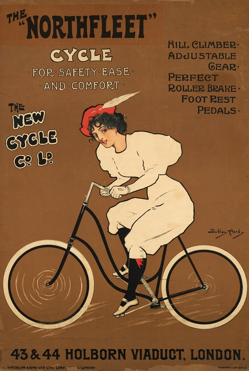 The Northfleet Cycle – Vintage poster – Dudley HARDY – 1895