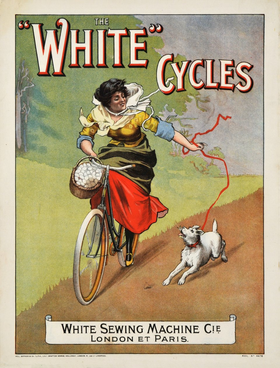 White Cycles – Vintage poster – ANONYME – 1910