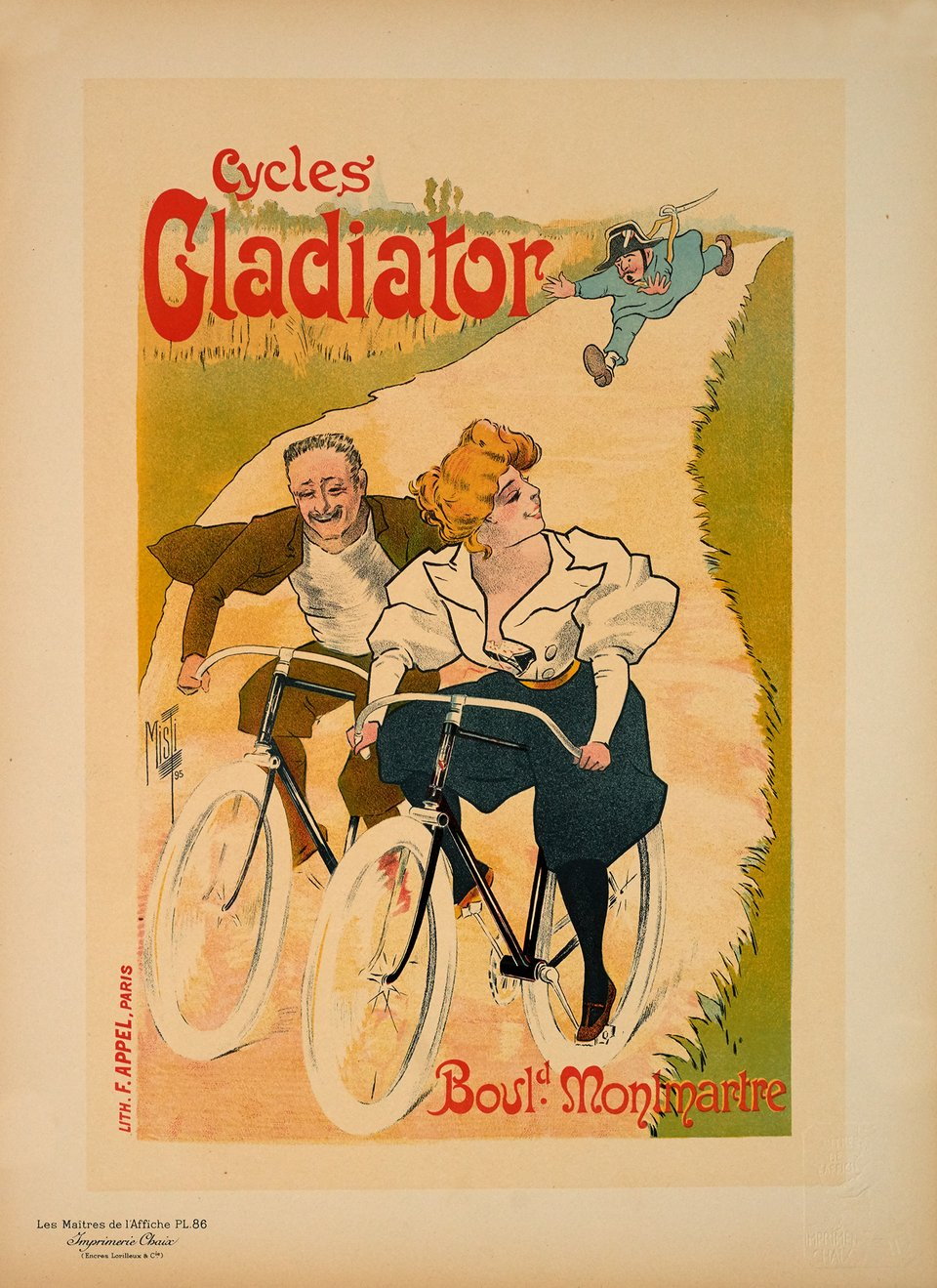 Cycles Gladiator – Vintage poster – MISTI – 1897