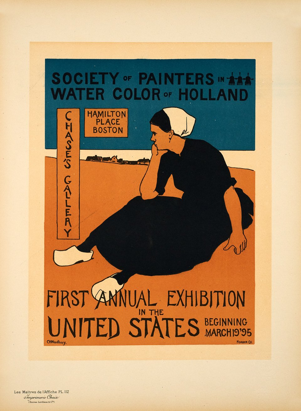 First Annual Exhibition in the United States – Affiche ancienne – Ch. H. WOODBURY – 1898