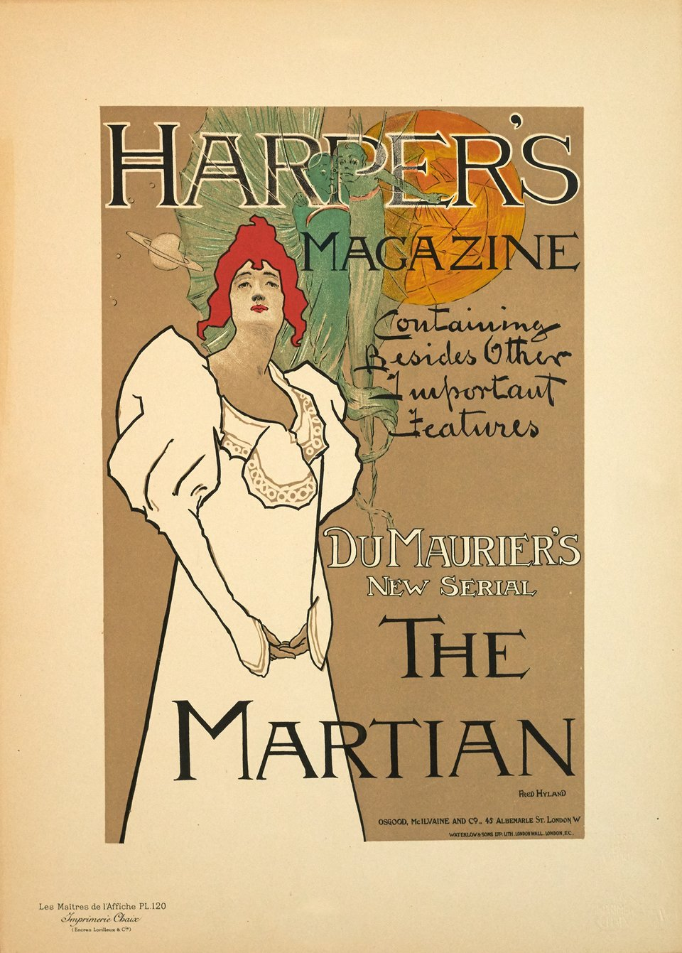Harper's magazine, création 1896, planche n° 120 – Affiche ancienne – Fred HYLAND – 1898