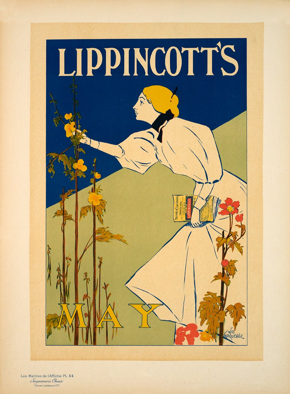 Lippincott's – Vintage poster – William CARQUEVILLE – 1896