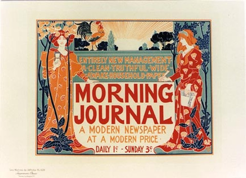 Morning Journal, création 1895, planche n° 220 – Affiche ancienne – Louis RHEAD – 1900
