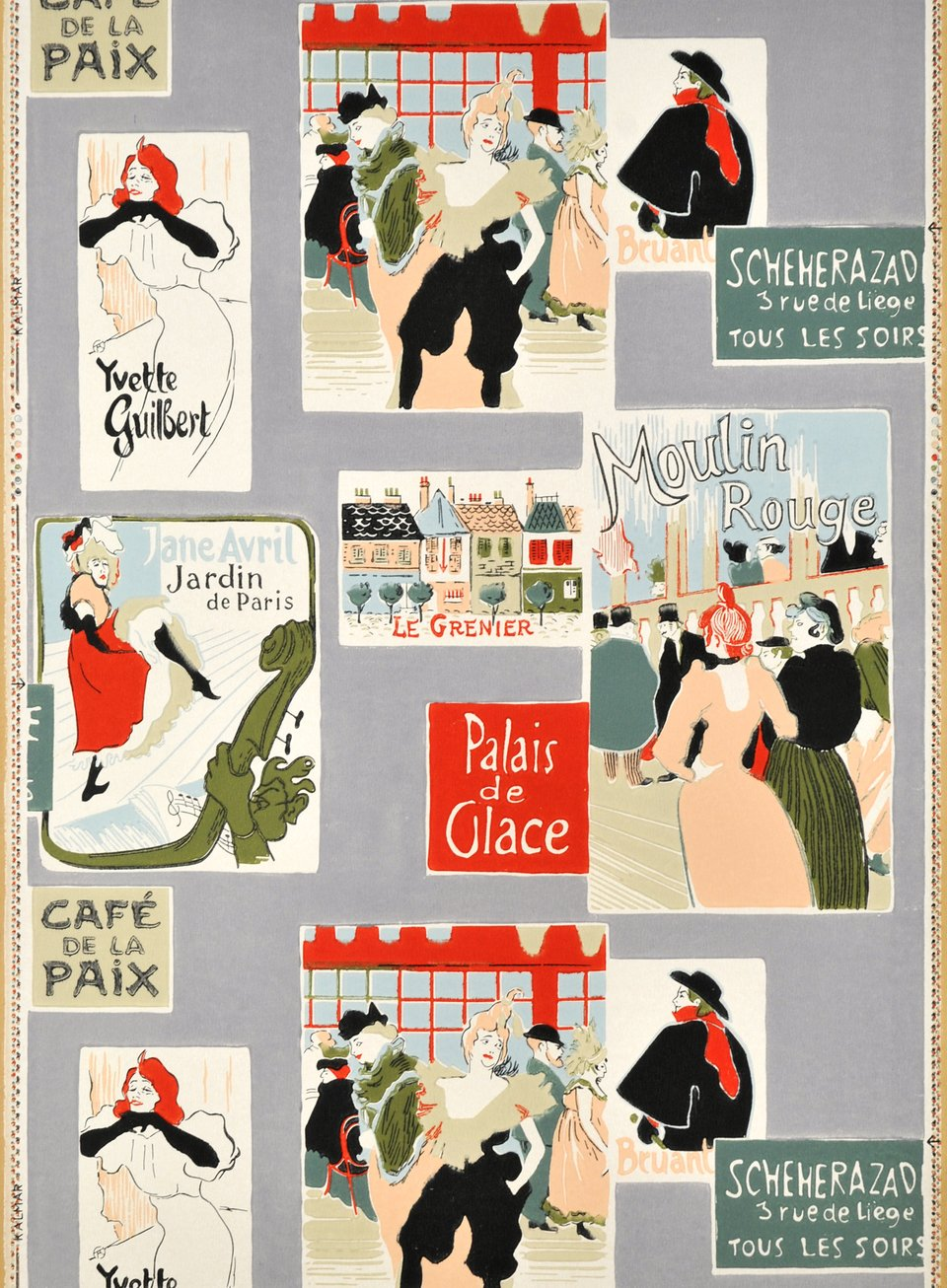 Moulin Rouge – Affiche ancienne – Henri DE TOULOUSE LAUTREC – 1955