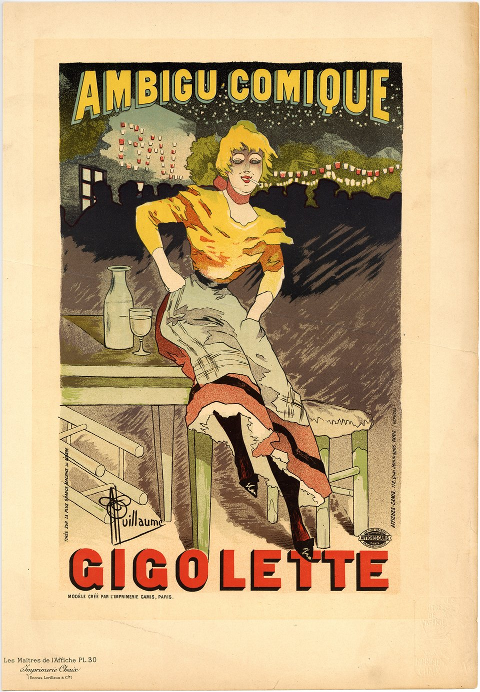 PL. 30 Gigolette – Affiche ancienne – Albert GUILLAUME – 1896