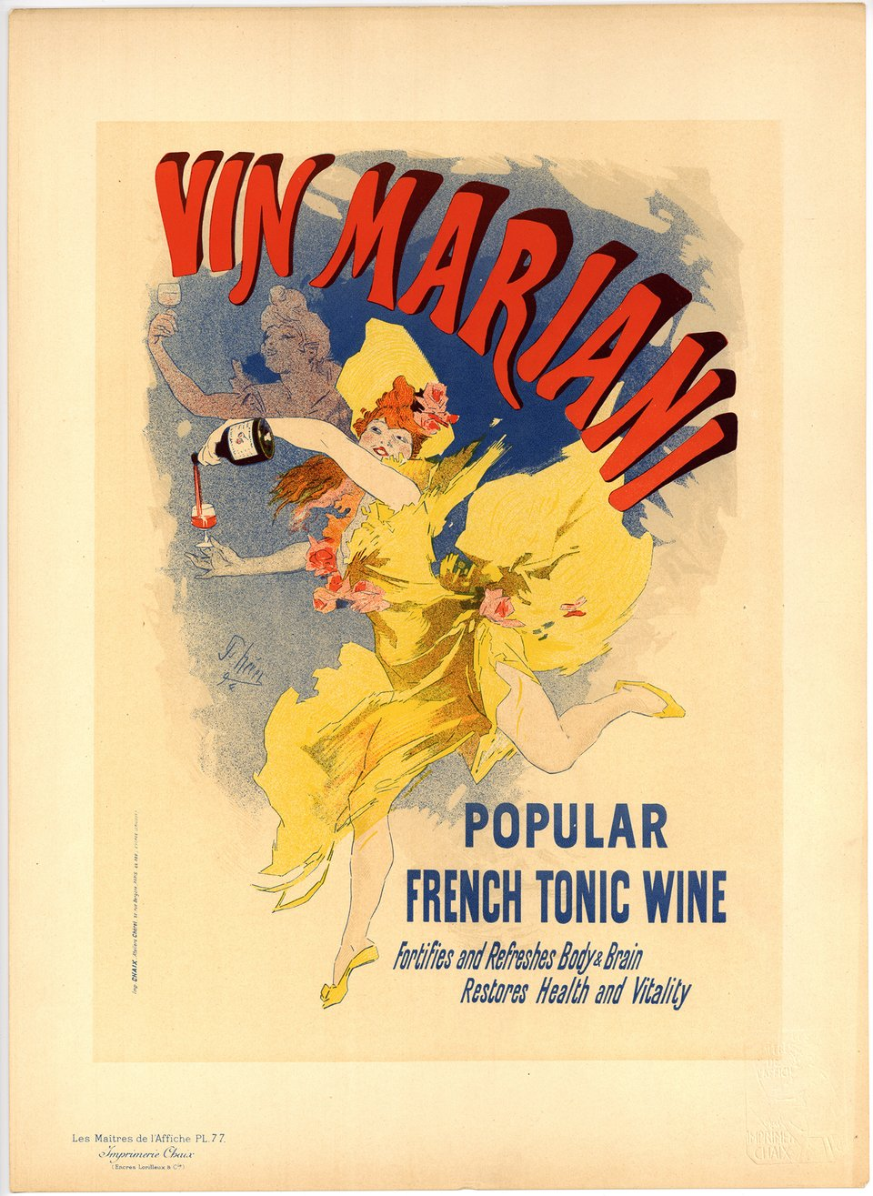 PL. 77 Vin Mariani, Popular French Tonic Wine – Vintage poster – Jules CHERET – 1897