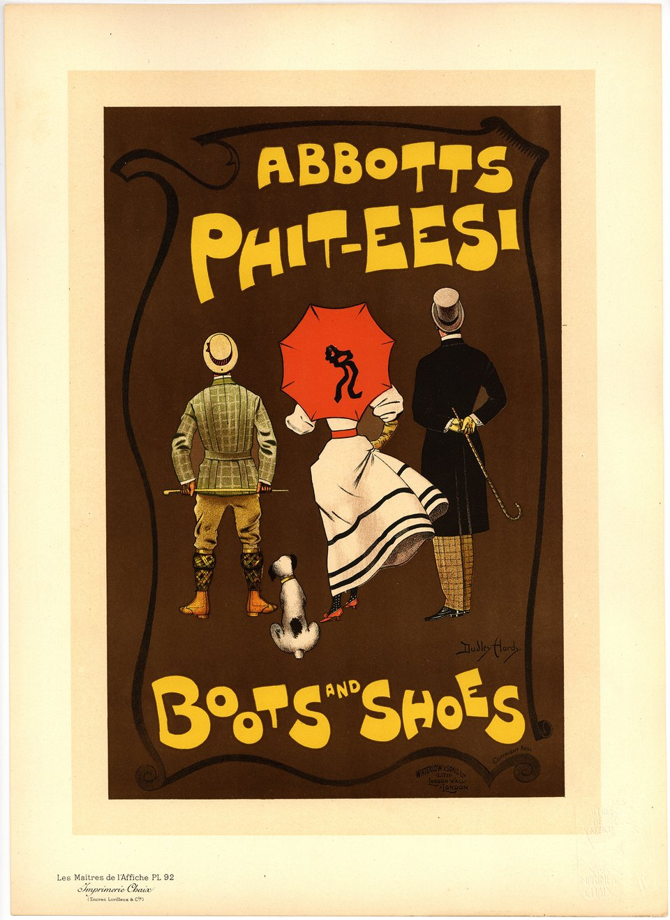 PL. 92 Abbotts Phit-Eesi – Affiche ancienne – Dudley HARDY – 1897