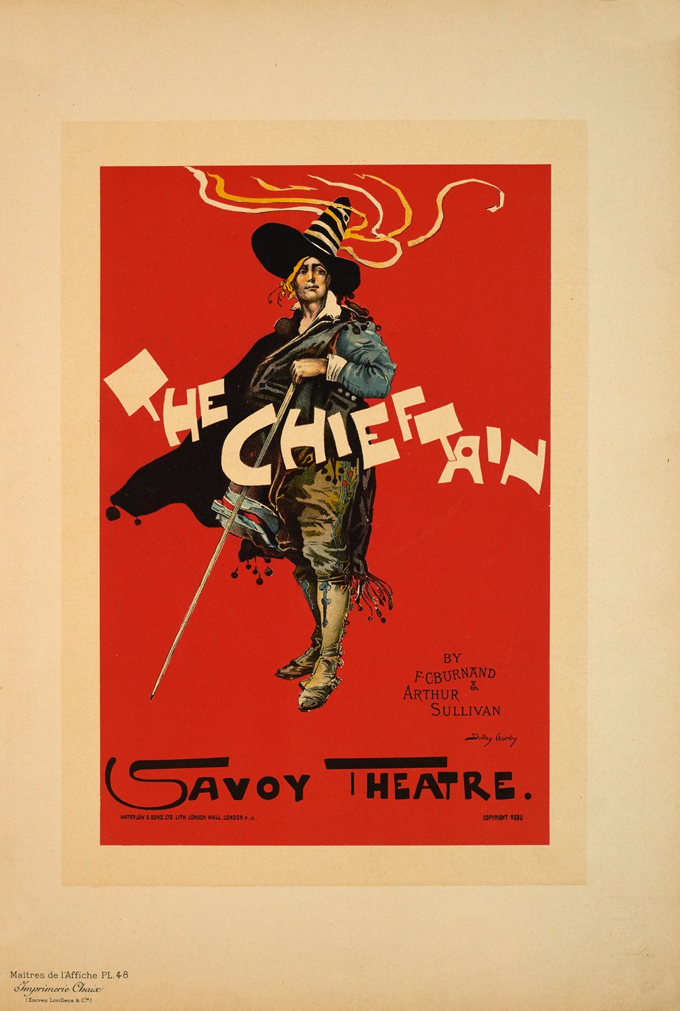 The Chieftain, Savoy Theatre – Vintage poster – Hardy DUDLEY – 1896