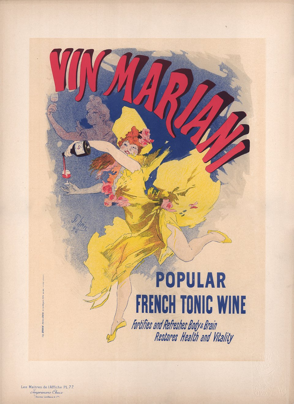 Vin Mariani, Popular French Tonic Wine – Affiche ancienne – Jules CHERET – 1897