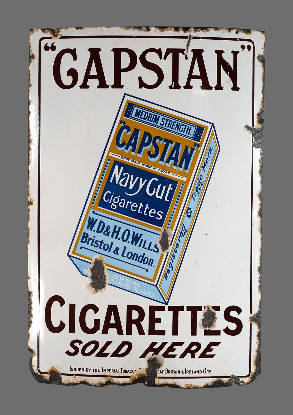 Capstan Navy Cut Cigarettes – Vintage poster – ANONYME – 1920
