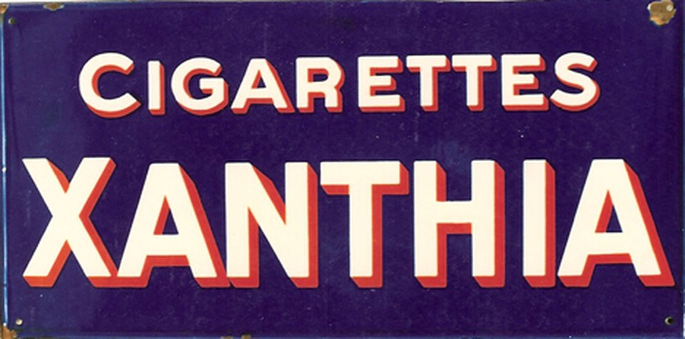 Cigarettes Xanthia – Affiche ancienne –  ANONYME – 1935