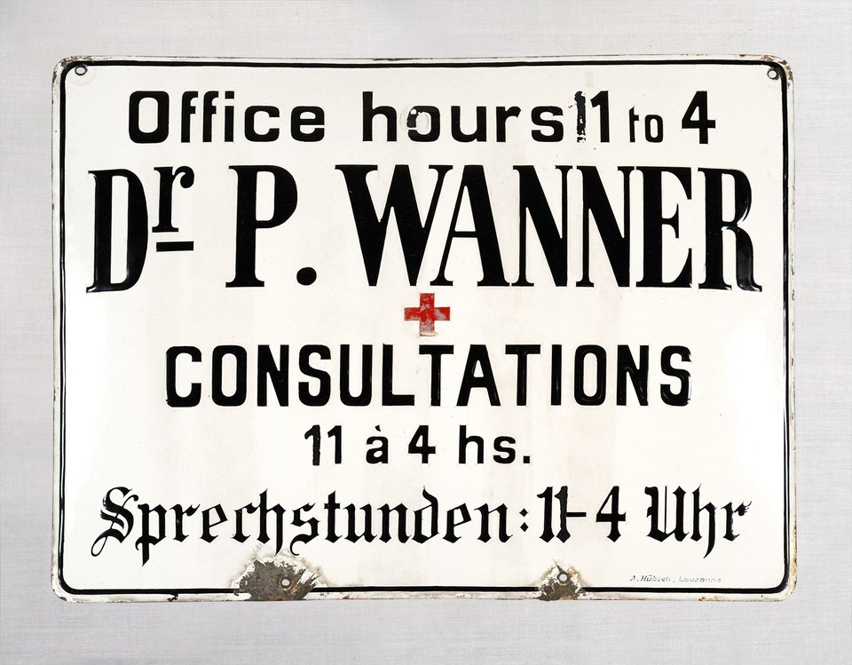 Dr P Wanner, Consultations 11 à 4 heures – Vintage poster –  ANONYME – 1910