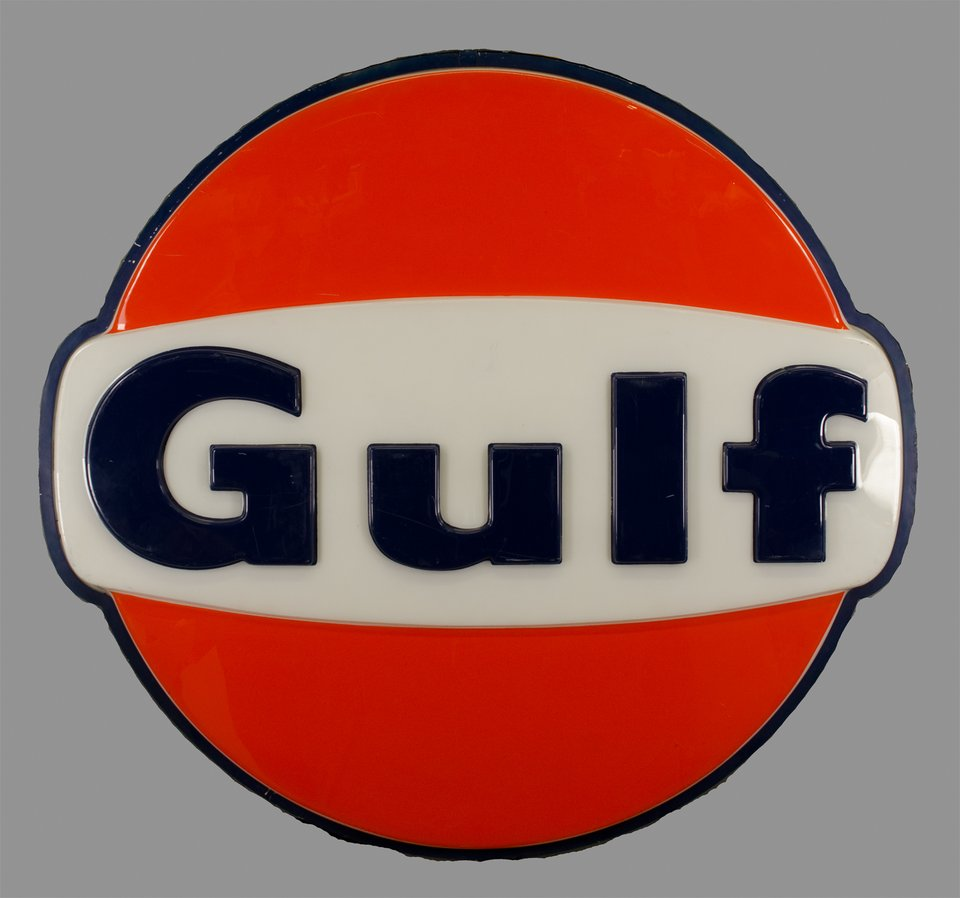 Gulf – Vintage poster – ANONYMOUS – 1950