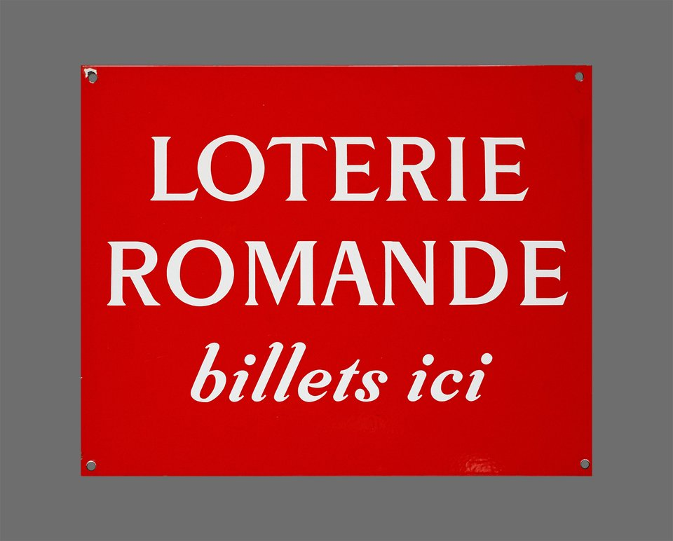 Loterie Romande, billets ici – Affiche ancienne –  ANONYME – 1950
