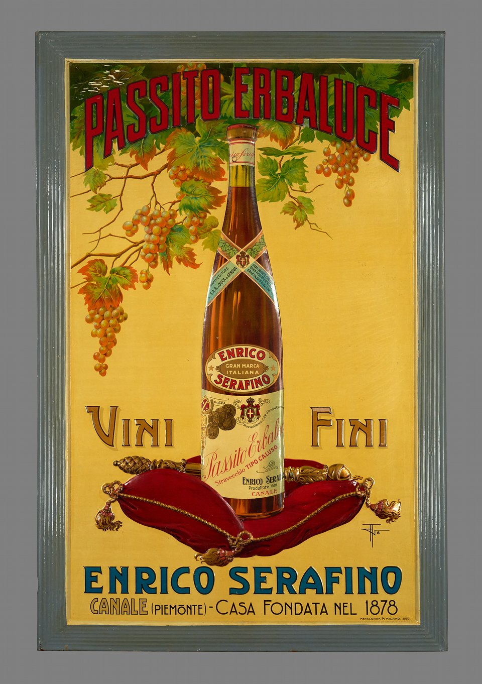 Passito Erbaluce, vin fin – Vintage poster – ANONYME – 1920