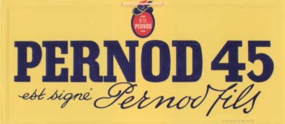 Pastis Pernod 45 est signé Pernod fils – Vintage poster –  ANONYME – 1945