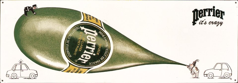 Perrier it's crazy – Affiche ancienne – NR – 1998