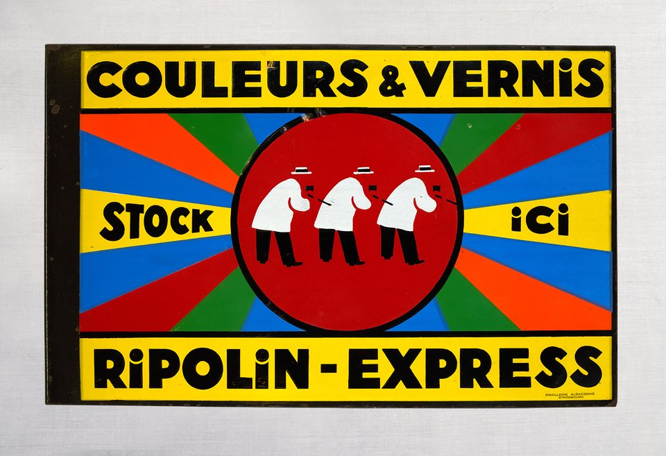 Ripolin Express, Couleurs & Vernis, Stock ici – Vintage poster – ANONYME – 1935