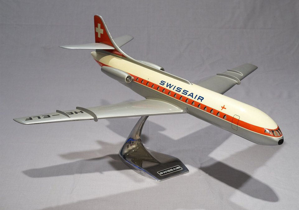 Swissair Caravelle HB-ELF  1/50 – Affiche ancienne – RAISE-UP – 1960