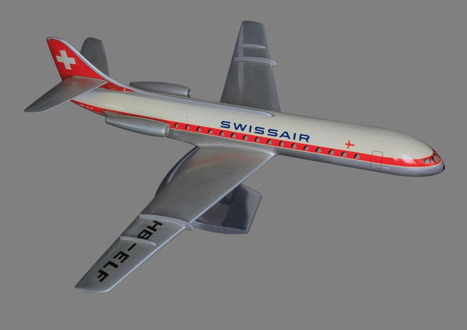 Swissair Caravelle HB-ELF, 1:50 scale – Affiche ancienne – RAISE-UP – 1960