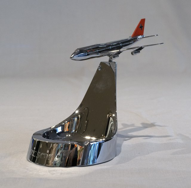 Swissair, ashtray Jumbo