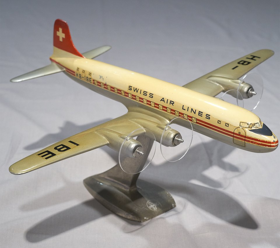 Swissair DC-6 HB-IBE  1/72 – Affiche ancienne – RAISE-UP – 1951