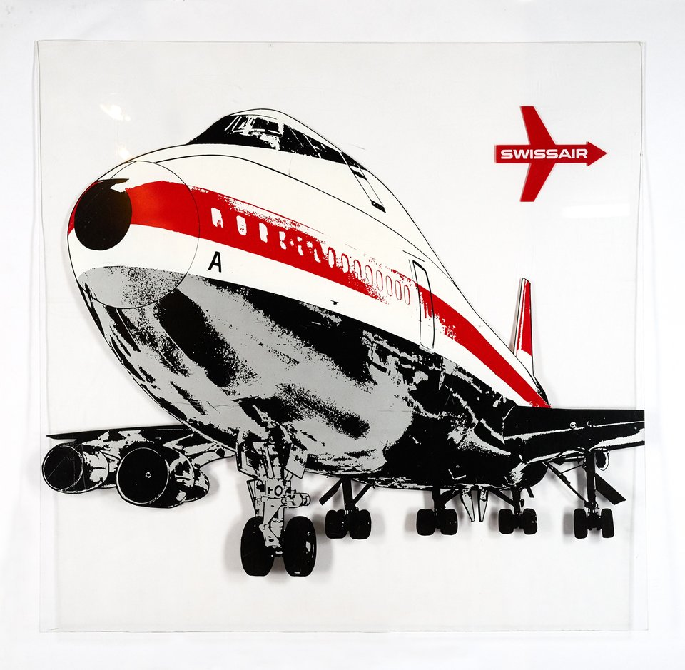 Swissair, Boeing 747 – Vintage poster –  ANONYME – 1971