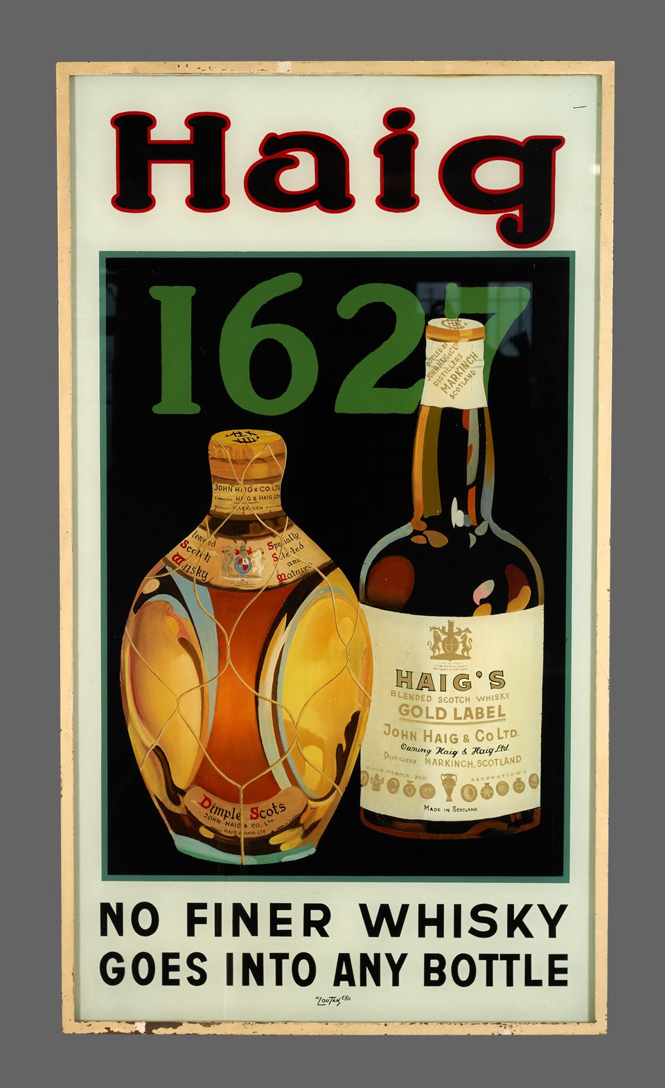 Whisky Haig 1627 – Affiche ancienne –  ANONYME – 1940