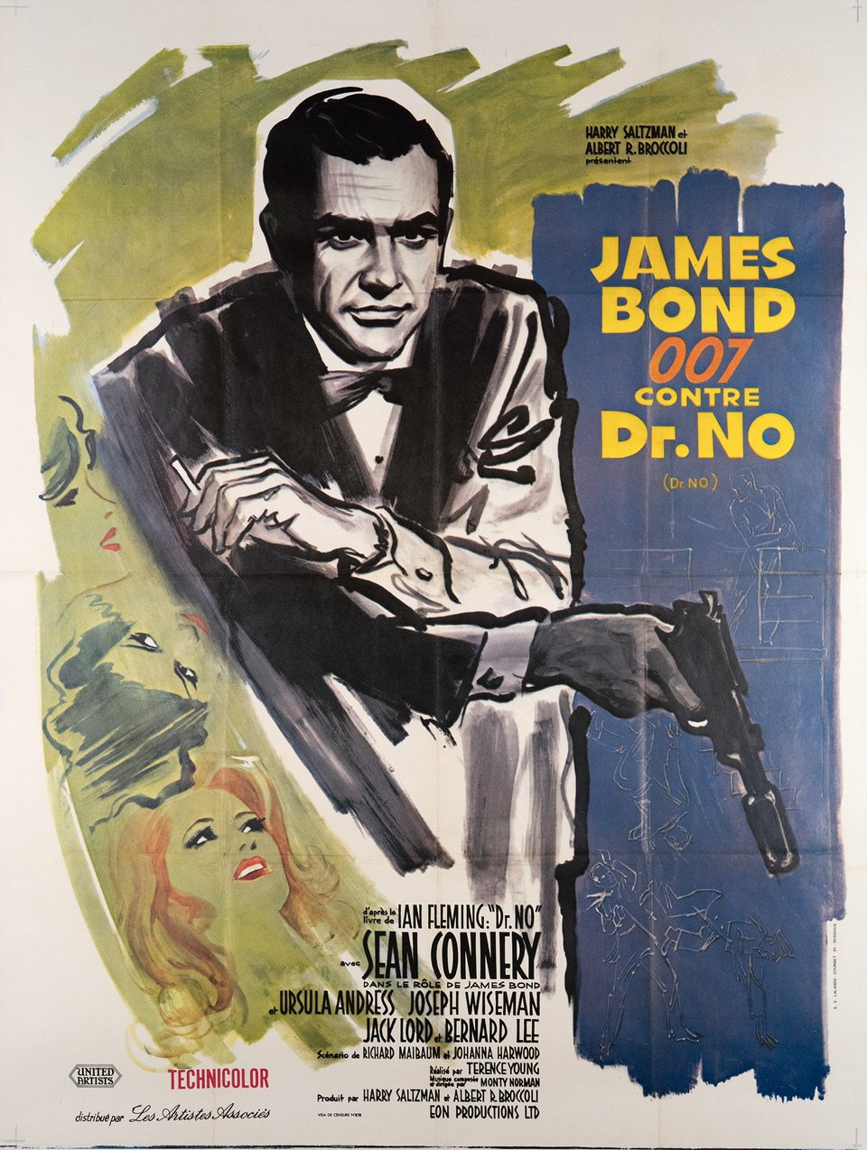 James Bond 007 contre Dr.NO – Vintage poster – Boris GRINSSON, Mitchell HOOKS – 1978