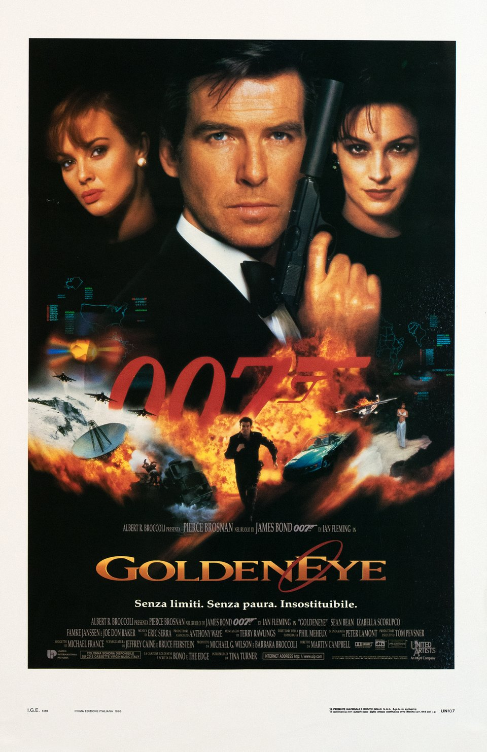 James Bond 007, GoldenEye – Vintage poster – Keith HAMSHERE, Terry O'NEILL, George WHITEAR – 1996