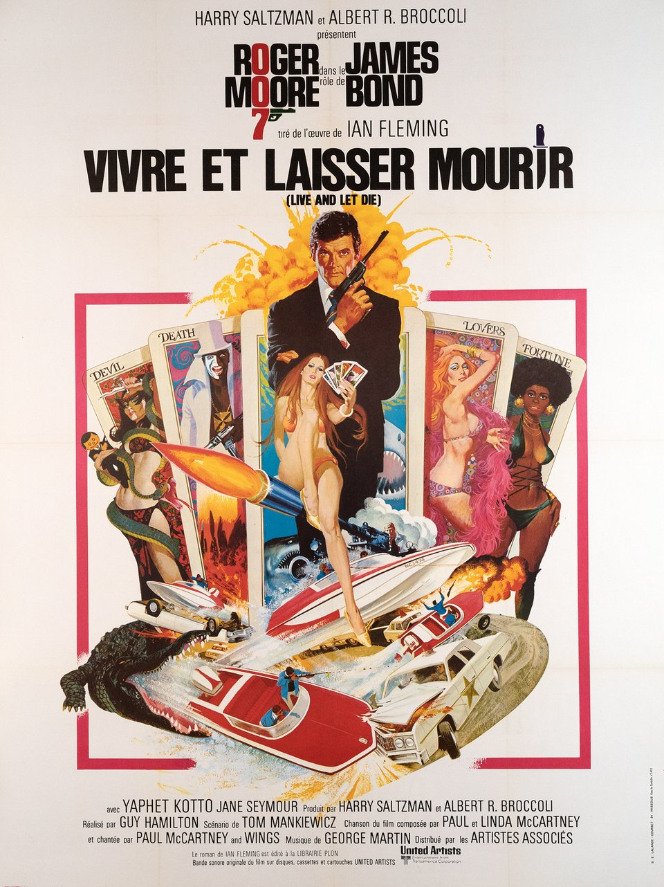 James Bond 007, Vivre et laisser mourir – Vintage poster – Robert MCGINNIS – 1978