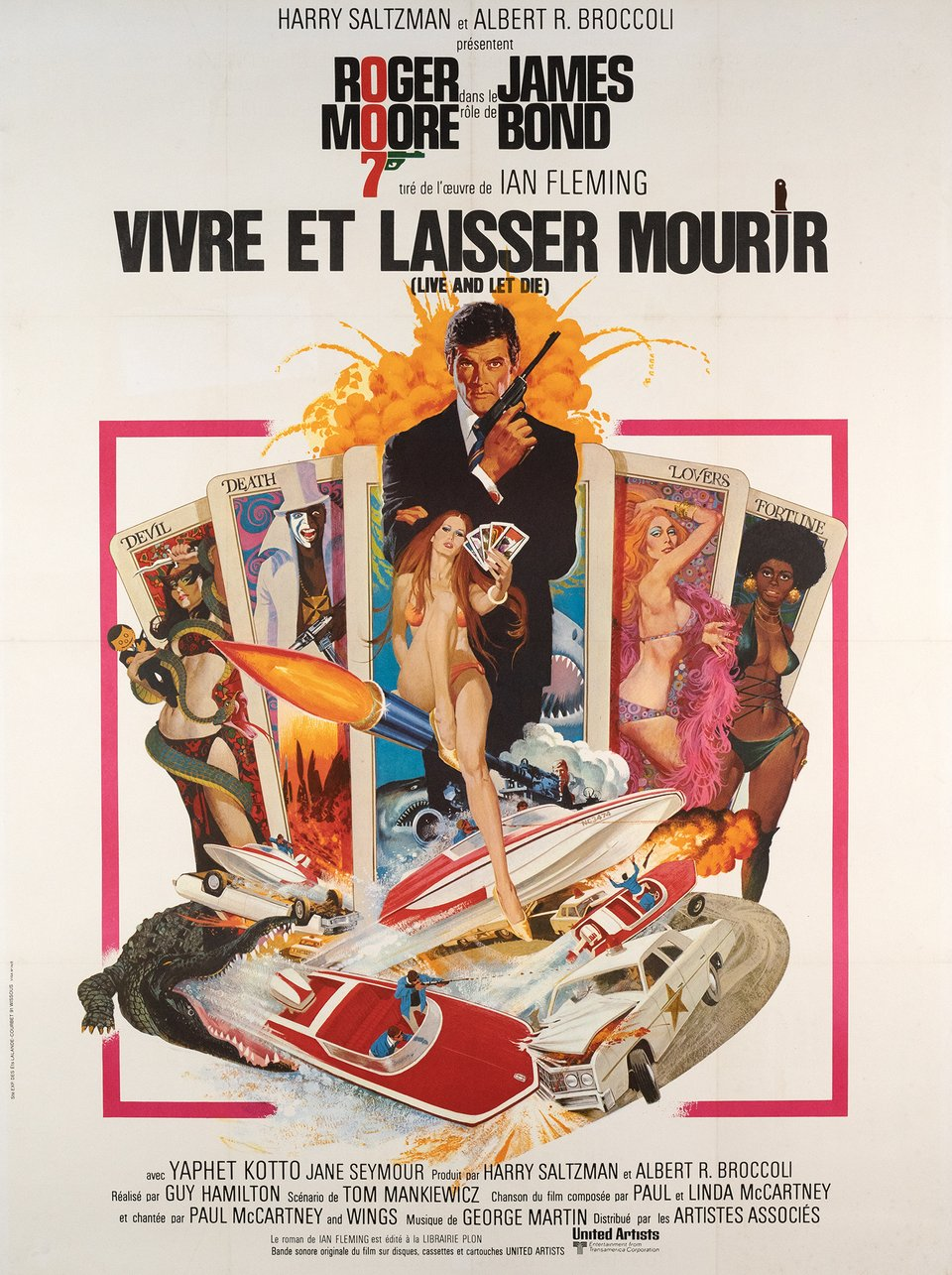 James Bond 007, Vivre et laisser mourir – Vintage poster – Robert MCGINNIS – 1973