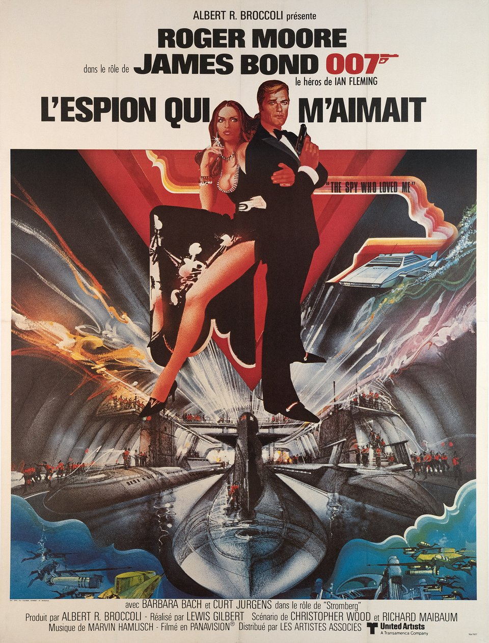 James Bond 007, l'Espion qui m'aimait – Affiche ancienne – Bob PEAK – 1977