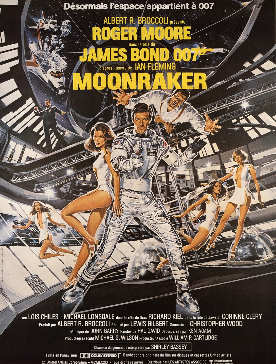James Bond, Moonraker – Vintage poster – Dan GOOZEE – 1979