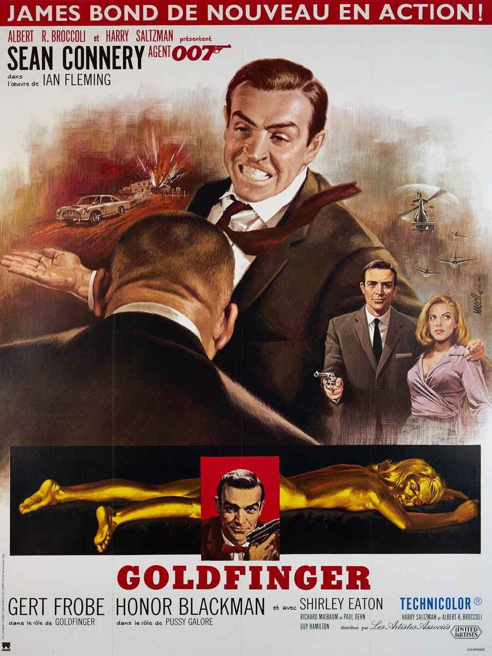 James Bond 007, Goldfinger – Vintage poster – Jean MASCII – 1985