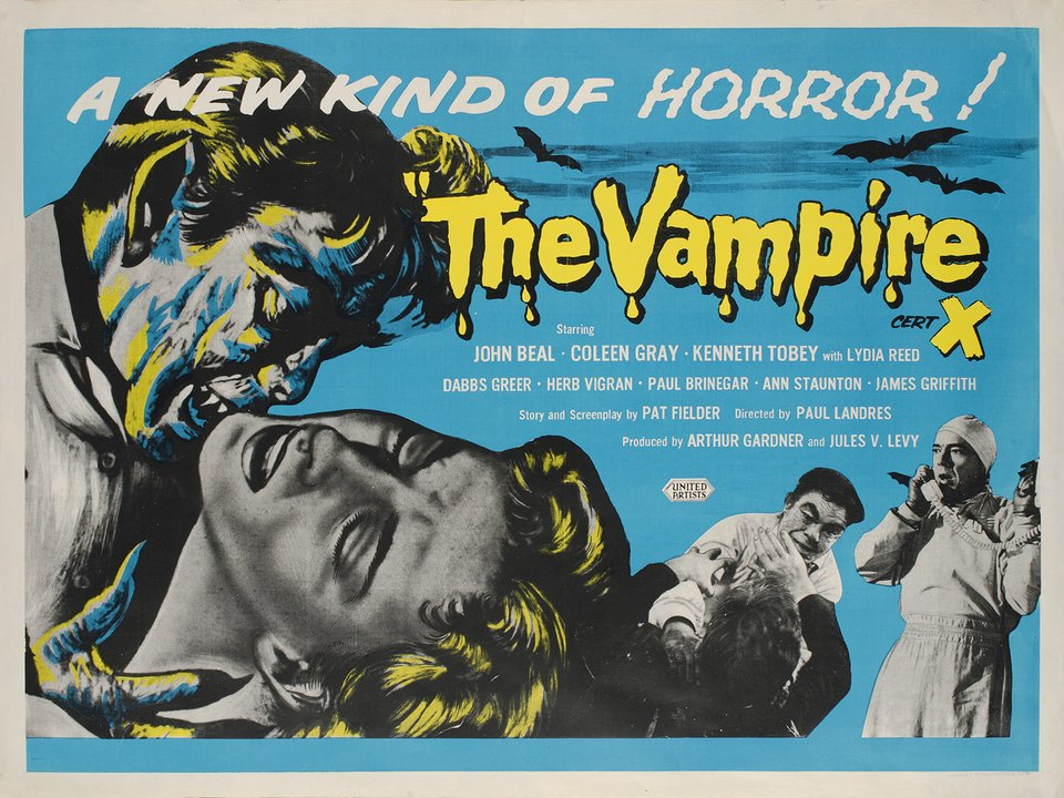 The Vampire – Affiche ancienne –  ANONYME – 1960