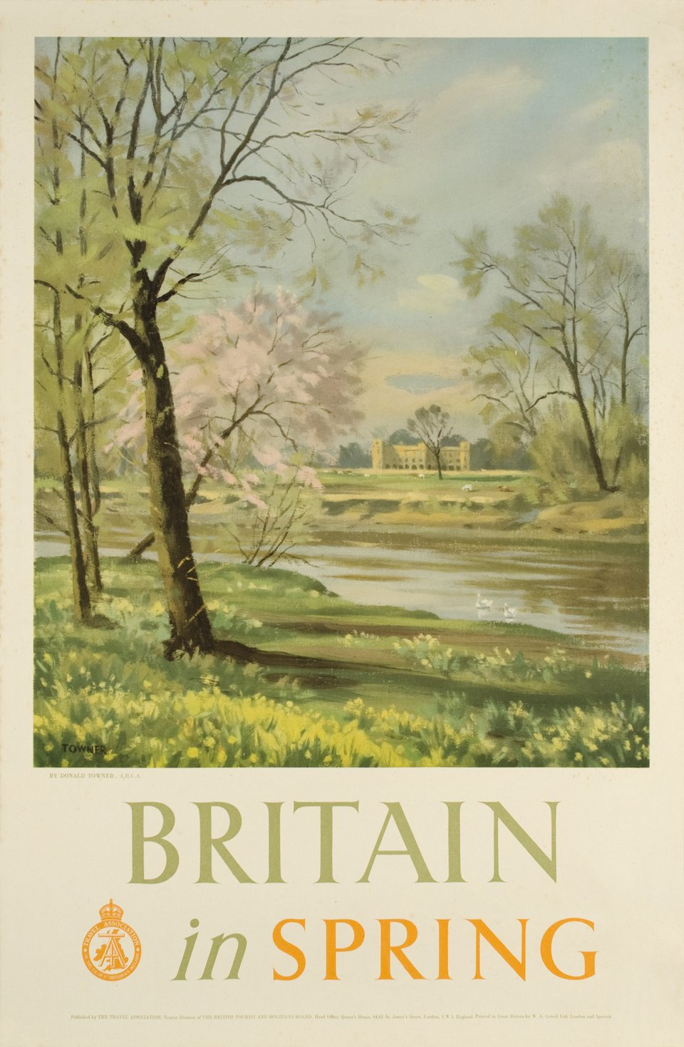 Britain in Spring – Affiche ancienne – Donald TOWNER – 1948