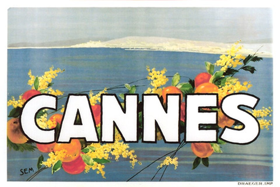 Cannes – Affiche ancienne – Georges SEM, GOURGAT – 1930