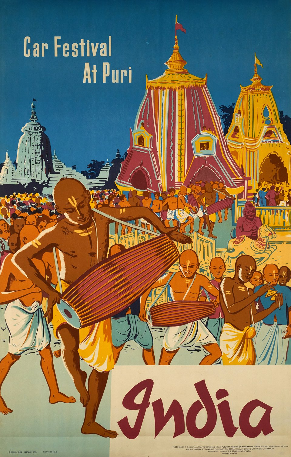 Car festival at Puri, India – Affiche ancienne –  ANONYME – 1957