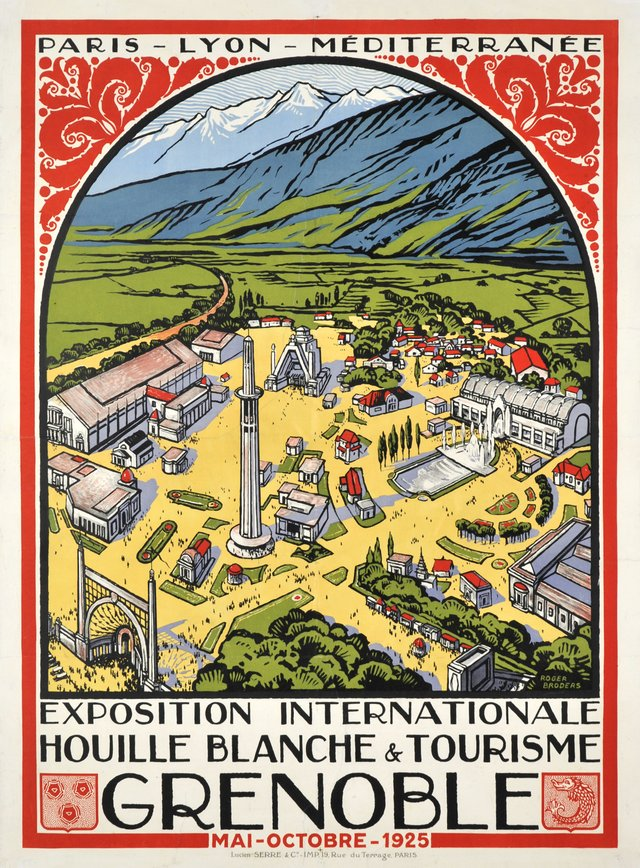 Exposition internationale, Houille Blanche & tourime, Grenoble 1925
