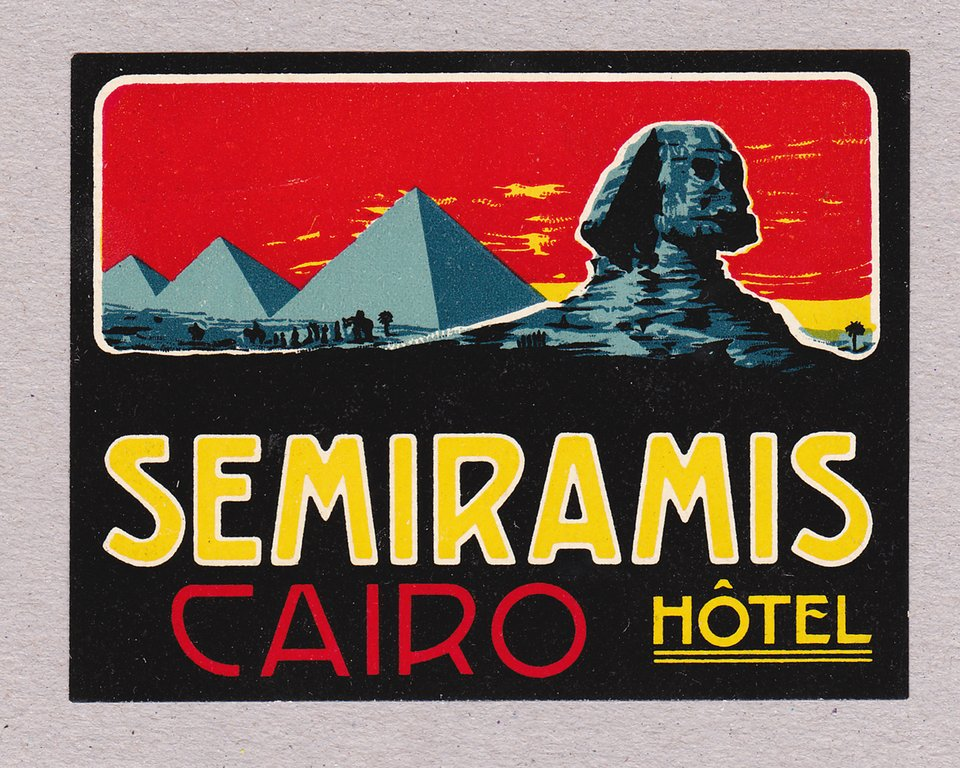 Hotel Semiramis – Vintage poster – ANONYME – 1910
