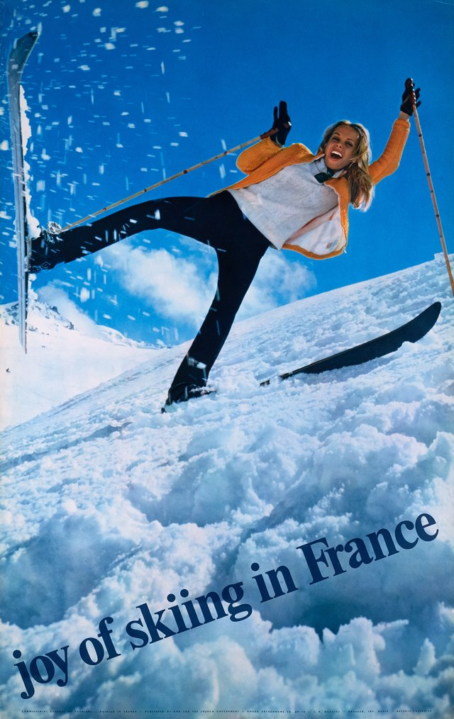 Joy of skiing in France